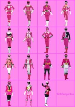 Pink Power Rangers by PinkRangerFan
