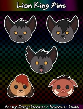 Lion King Pins - Others by Demy-Stardust