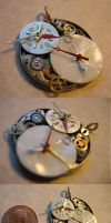Tea Time Clock by themaskgallery