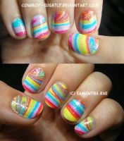 Rainbow Bright: My First Water Marble by Cowboy-Slightly