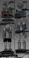 Genocide - Sans and Papyrus by SafulousArt