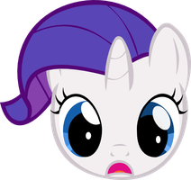 Filly Rarity face by dumbrock1