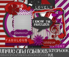 Unique and Fabulous Scrapbook Kit by NightmareChronicles