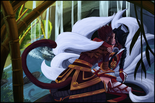 Wukong and Ahri by ultema