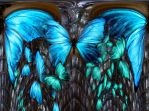 Blue butterfly's abstraction by dermis109