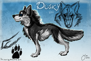 Commission for relejs: Dusky ref by AgentWhiteHawk
