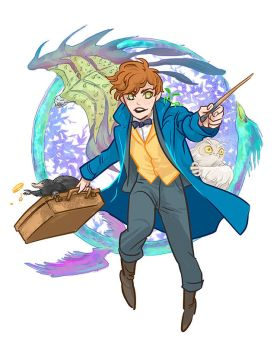 Newt Scamander by beanclam