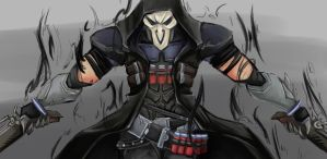 Overwatch Reaper by wahuut