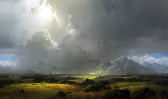 Concept practice 13_landscape with mountains by IvanLaliashvili