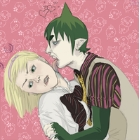 That's not how to kiss a human, Amaimon. by JunkUpShowUp