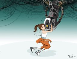 Chell is My Only Friend by DymasyaSilver