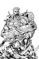 Cable and Deadpool by PhillieCheesie