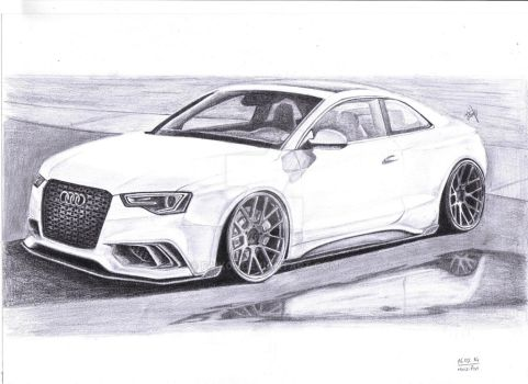 Audi RS5 White by Faik05