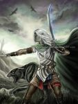 Drizzt and Guenhwyvar by keelerleah