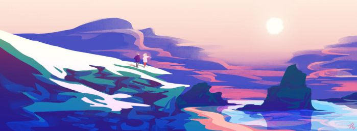 The Mountain and the Shore by pheika