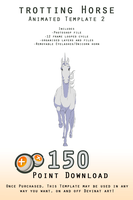 Downloadable Trotting Horse Template 2 - ANIMATED by Wild-Hearts