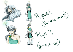 Character Concepts - Rynas and Ryor by Jocyhope