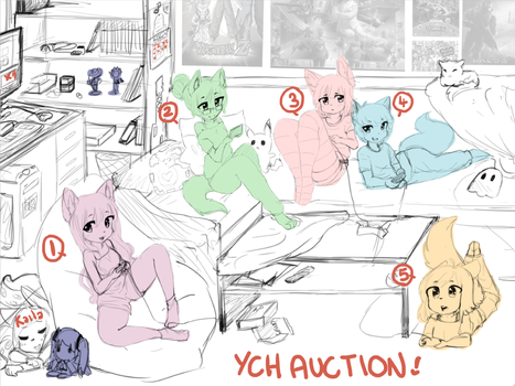 gaming night ych by Nyvokarts