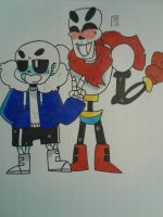 Undertale-Skelebros  by J-Comics