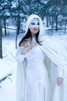 lace, snow off shoulder by eyefeather-stock