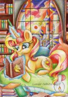 Sunset in Canterlot by Lunar-White-Wolf