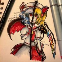 Inktober day 4: Remila and/or Flandre Scarlet by otakuartist247