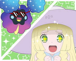 Pokemon sun and moon - Lillie and Cosmog