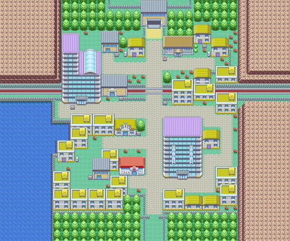 Goldenrod City - GBA Map by lilbluedemon