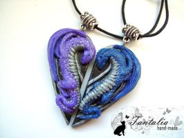Pendants for the lovers 'Eternal love' by Tantalia