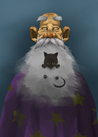 Blind Wizard And His Cat by RoyalJester