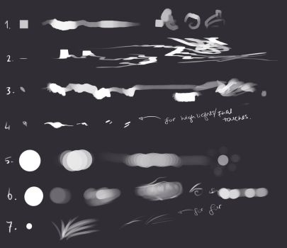My Photoshop brushes #2 - free download! by Rametic