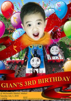 Gian's 3rd Birthday Invitation by milou7