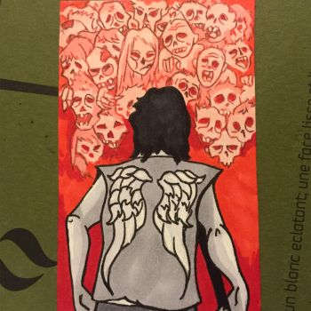Daryl Sketch Card by ghoulsandgals
