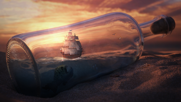 ship in a bottle by frequenzlos