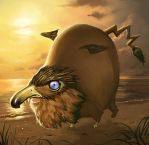 Burd, the Magical Griffin by faxtar