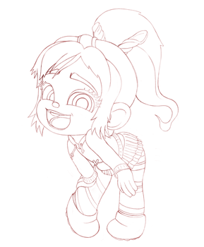Vanellope - Hey! I'm a real racer now! (WIP) by artistsncoffeeshops