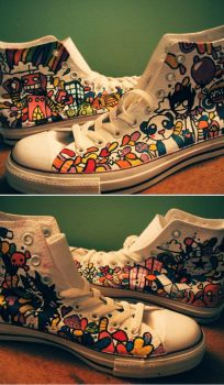 painted high-tops by KatieAnnOwens