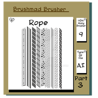 Illustrator Rope brush Part 3 by brushmad