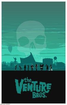 The Venture Bros. poster by billpyle