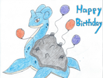 Birthday Lapras~ by Azadori