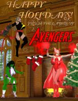 Happy Holidays From The Avengers Girls! by OrionPax09