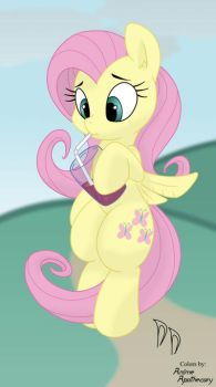 fluttershy sketch COLOR by Anime-Apothecary