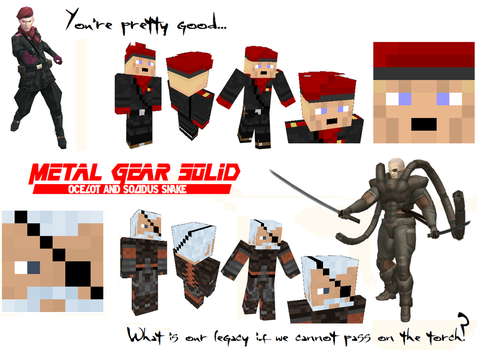 Metal Gear Solid 'The Patriots' Minecraft Skins by NickasaurusREX