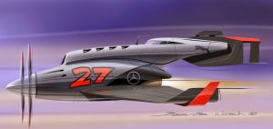 mercedes F1 speed plane sketchbook pro 6 concept s by berniewalsh