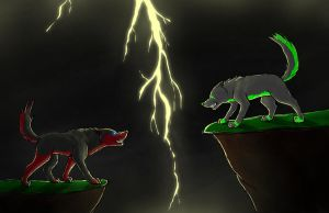 The fight on a stormy night by sandra9666