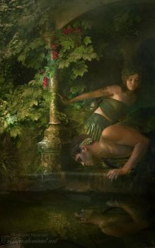 Echo and Narcissus updated by esstera
