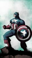 Captain America colored by randomality85