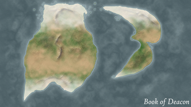 Book of Deacon World Map by DraconicWorlds