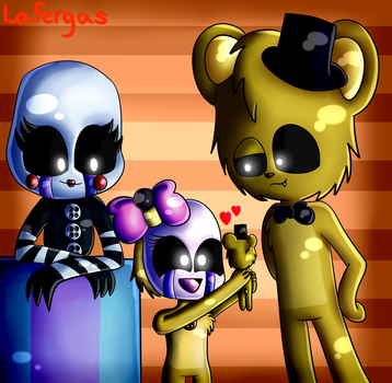 Goldionette Family! ~ COMMISSION ~ by Lafergas