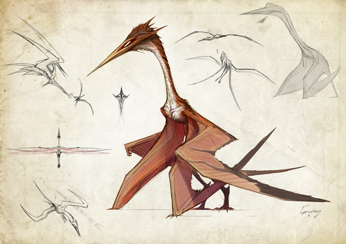 Tissoplastic quetzalcoatlus by Tapwing